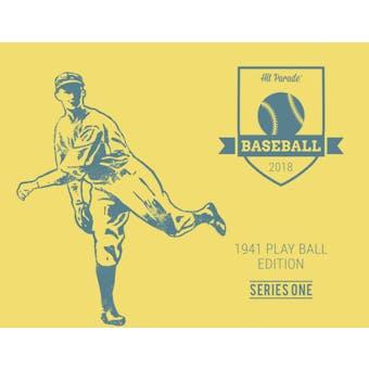 2018 Hit Parade Baseball 1941 Play Ball Edition - Series 1 - Hobby Box /72 - DiMaggio - Williams