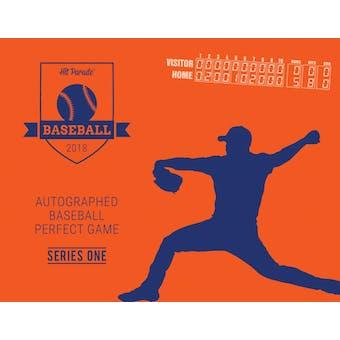 2018 Hit Parade Autographed Baseball PERFECT GAME Series 1- DACW Live 27 Spot Random Hit Break #6