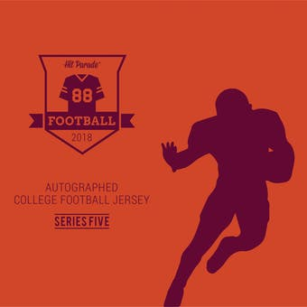 2018 Hit Parade Auto College Football Jersey 1-Box Series 5- DACW Live 6 Spot Random Break #11