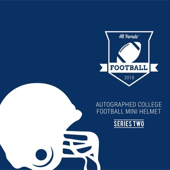 2018 Hit Parade Auto College Football Mini Helmet 1-Box Series 2- DACW Live 6 Spot Random Break #5