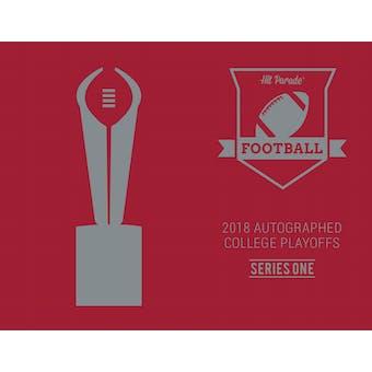 2018 Hit Parade Auto College Football PLAYOFF 3-Box Series 1- DACW Live 9 Spot Random Hit Break #1