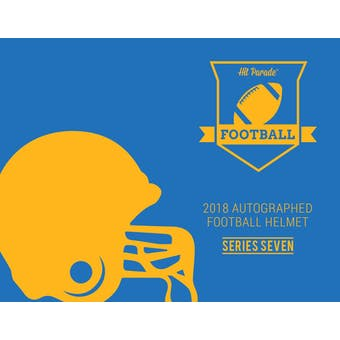 2018 Hit Parade Autographed Full Size Football Helmet Hobby Box - Series 7 - Montana & Elway