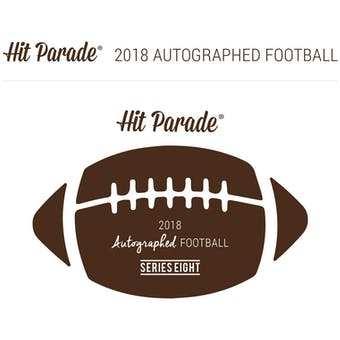 2018 Hit Parade Autographed Football Hobby Box - Series 8 - Triple Signed Peyton Manning, Harrison, & James!