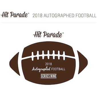 2018 Hit Parade Autographed Football Hobby Box - Series 9 - Bart Starr, Drew Brees, & Joe Montana!!!