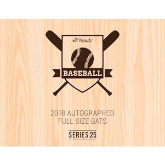 2018 Hit Parade Autographed Baseball Bat 1-Box Series 25- New Year 6 Spot Random Division Break #3