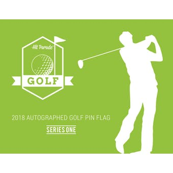 2018 Hit Parade Autographed Golf Pin Flag Series 1 Hobby Box - DUAL Signed Arnold Palmer & Jack Nicklaus!!