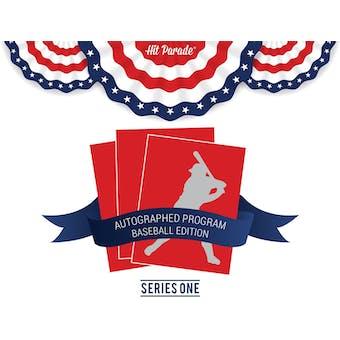 2019 Hit Parade Autographed Program Baseball Edition Hobby Box - Series 1 : Trout - Sale - Andujar - Bellinger