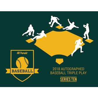 2018 Hit Parade Autographed TRIPLE PLAY Baseball Edition Hobby Box - Series 10 - Bryce Harper & Carlos Correa!