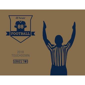 2018 Hit Parade Auto Football Jersey TOUCHDOWN Ed 2-Box - Series 2- New Year 32 Spot Random Team Break 2