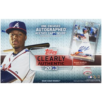 2018 Topps Clearly Authentic Baseball 10-Box- DACW Live 6 Spot Random Division Break #1