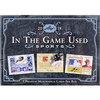 2018 Leaf In The Game Used Sports Hobby Box