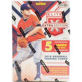 2018 Panini Elite Extra Edition Baseball Blaster Box
