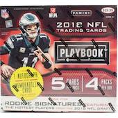 2018 Panini Playbook Football 4-Pack Ultra Box