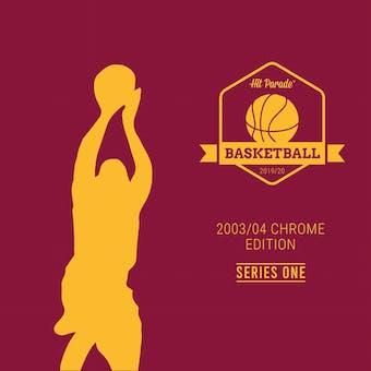 2020 Hit Parade '03/04 Topps Chrome Refractor Series 1 Basketball Hobby Box /177 LEBRON-WADE-MELO