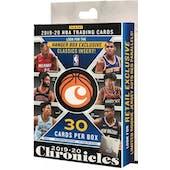 2019/20 Panini Chronicles Basketball Hanger Box