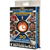 2019/20 Panini Chronicles Basketball Hanger 36-Box Case