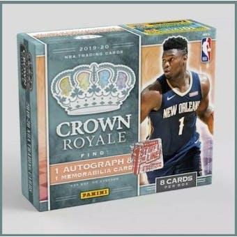 2019/20 Panini Crown Royale Basketball 1st Off The Line FOTL Hobby Box