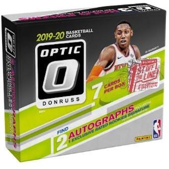 2019/20 Panini Donruss Optic 1st Off The Line Premium Edition Basketball Hobby Box