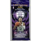 2019/20 Panini Illusions Basketball Jumbo Fat 12 Card Pack