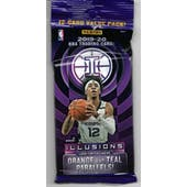 2019/20 Panini Illusions Basketball Jumbo Fat 12 Card Pack