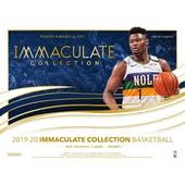 2019/20 Panini Immaculate Basketball Hobby 5-Box Case (Presell)
