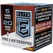 2019/20 Panini Elite Basketball Hobby 12-Box Case