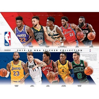 2019/20 Panini NBA Basketball Sticker Collection Box