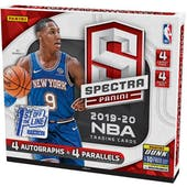 2019/20 Panini Spectra Basketball 1st Off The Line Hobby Box