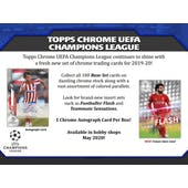 2019/20 Topps Chrome UEFA Champions League Soccer Hobby 2-Box Lot - SHIPS EARLY DECEMBER