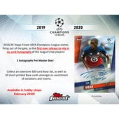 2019/20 Topps Finest UEFA Champions League Soccer Hobby 8-Box Case (Presell)