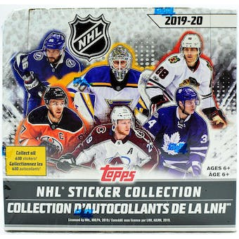 2019/20 Topps NHL Hockey Sticker Collection Box
