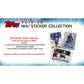 2019/20 Topps NHL Hockey Sticker Collection 16-Box Case (Presell)