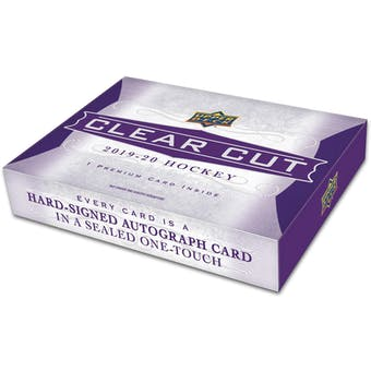2019/20 Upper Deck Clear Cut Hockey Hobby 15-Box Case (Presell)