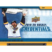 2019/20 Upper Deck Credentials Hockey Hobby Box (Presell)