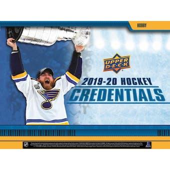 2019/20 Upper Deck Credentials Hockey Hobby 20-Box Case (Presell)