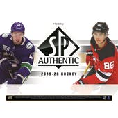 2019/20 Upper Deck SP Authentic Hockey Hobby 8-Box Case (Presell)