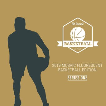 2019/20 Hit Parade Mosaic Fluorescent Basketball Edition Series 1 Hobby Box /100 Zion-Morant