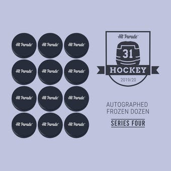 2019/20 Hit Parade Autographed FROZEN DOZEN Hockey Puck Series 4 Hobby Box Matthews & Draisaitl!!