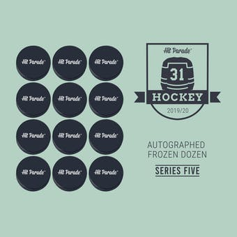 2019/20 Hit Parade Autographed FROZEN DOZEN Hockey Puck Series 5 Hobby Box Messier, Sakic & Toews!!!