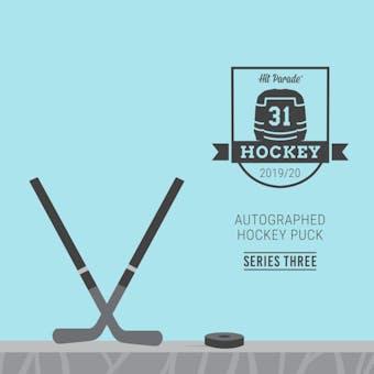 2019/20 Hit Parade Autographed Hockey Puck - Series 3 - Hobby 10-Box Case Matthews, Orr & Lemieux!!!