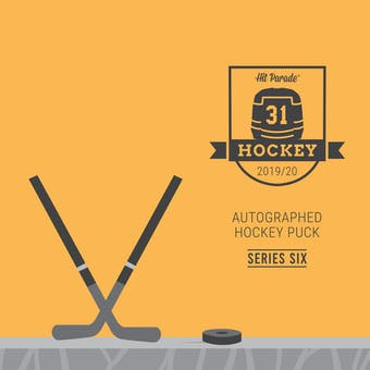 2019/20 Hit Parade Autographed Hockey Puck - Series 6 - Hobby Box Matthews, MacKinnon & Eichel!!