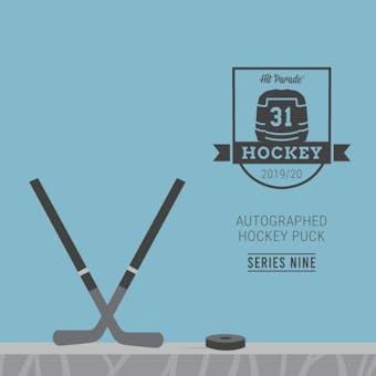 2019/20 Hit Parade Autographed Hockey Puck - Series 9 - Hobby Box Jagr, Lundqvist & MacKinnon!!!