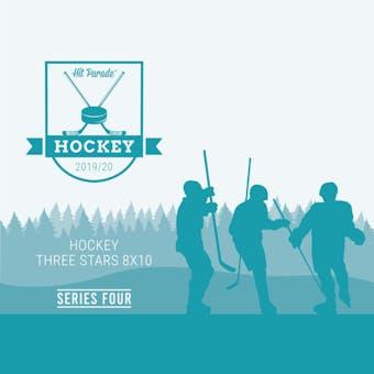 2019/20 Hit Parade Autographed Hockey THREE STARS 8x10 Photo - Series 4 - Hobby Pack Box McDavid & Crosby!!
