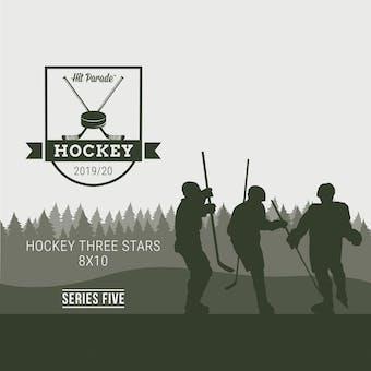 2019/20 Hit Parade Autographed Hockey THREE STARS 8x10 Photo - Series 5 - Hobby Pack Box McDavid & Crosby!!