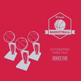2019/20 Hit Parade Autographed THREE PEAT Basketball Hobby Box - Series 5 - KOBE, ZION, & JA!!