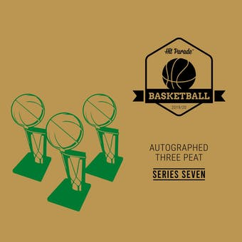 2019/20 Hit Parade Autographed THREE PEAT Basketball Hobby Box - Series 7 - Zion, Giannis, & Trae Young!!