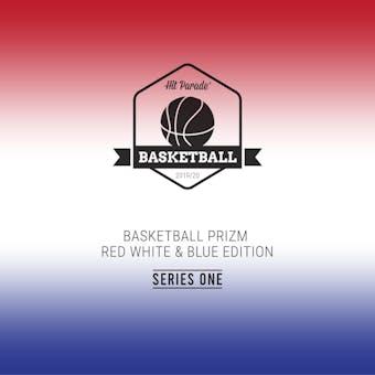 2019/20 Hit Parade Prizm Basketball Red White & Blue Edition Hobby Box /100 Luka-Zion-Tatum (SHIPS 10/9)