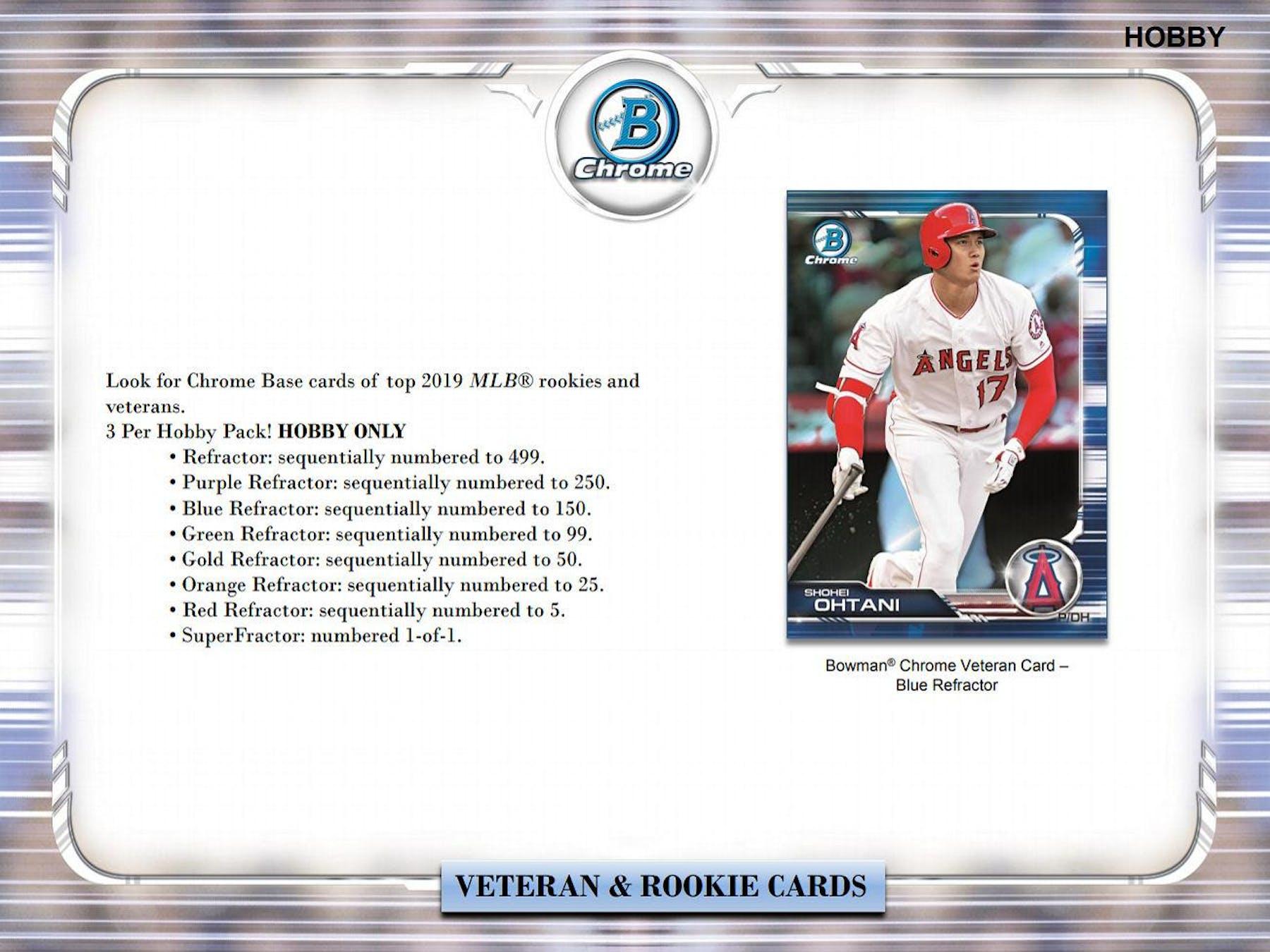 2019 Bowman Chrome Baseball Hobby Box Presell