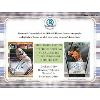 2019 Bowman Chrome Baseball HTA Choice Hobby Box (Presell)