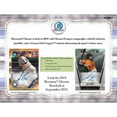 2019 Bowman Chrome Baseball Hobby Pack